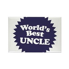 Worlds Best Uncle Rectangle Magnet