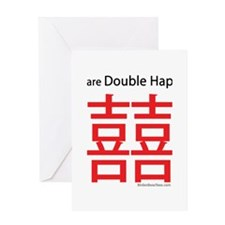 Twins are Double Happiness Greeting Card