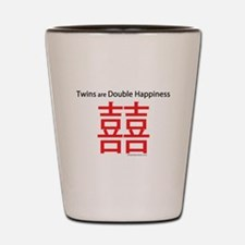 Twins are Double Happiness Shot Glass
