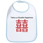 Twins are Double Happiness Bib