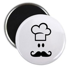 "Cook chef hat face 2.25"" Magnet (100 pack)"