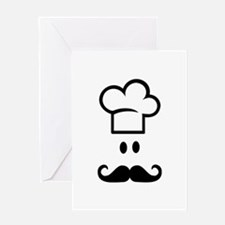 Cook chef hat face Greeting Card