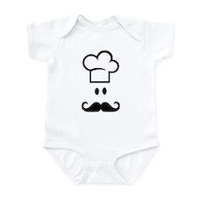 Cook chef hat face Infant Bodysuit