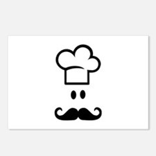 Cook chef hat face Postcards (Package of 8)