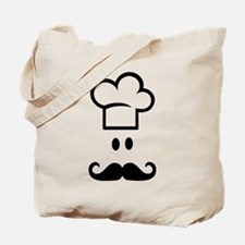 Cook chef hat face Tote Bag