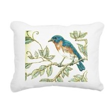 EASTERN BLUEBIRD.jpg Rectangular Canvas Pillow