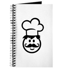 Cook chef hat face Journal