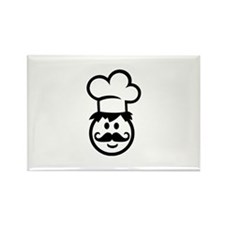 Cook chef hat face Rectangle Magnet (100 pack)
