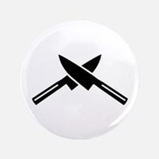 """Crossed knives 3.5"""" Button"""