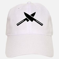 Crossed knives Baseball Baseball Cap