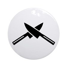 Crossed knives Ornament (Round)