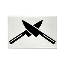 Crossed knives Rectangle Magnet