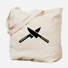 Crossed knives Tote Bag