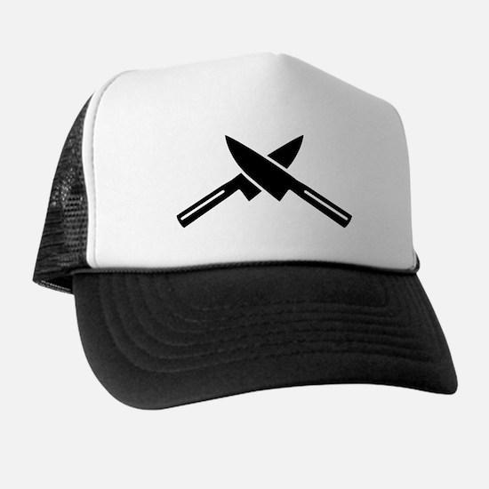 Crossed knives Trucker Hat