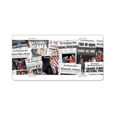 Obama Victory Collage Aluminum License Plate