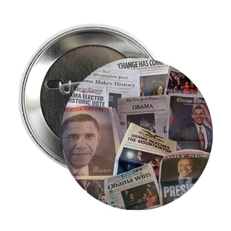 """Obama Victory Collage 2.25"""" Button"""