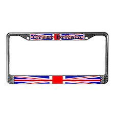 British Union Jack Flag License Plate Frame