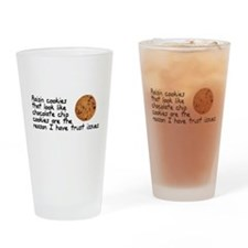Raisin cookies trust issues Drinking Glass