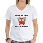 Ride The Fireman Women's V-Neck T-Shirt