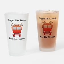 Ride The Fireman Drinking Glass