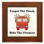 Ride The Fireman Framed Tile