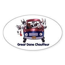 Dane Chauffeur Oval Decal