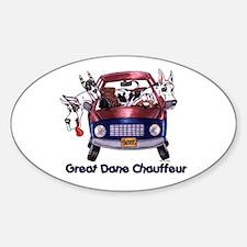 Dane Chauffeur Oval Decal