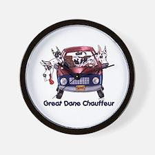 Dane Chauffeur Wall Clock