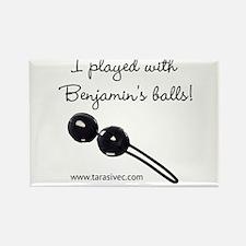 Benjamins Balls Rectangle Magnet