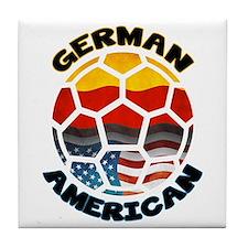 German American Football Soccer Tile Coaster