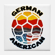 German American Football Soccer Tile Coaster