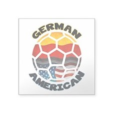 German American Football Soccer Square Sticker 3&q