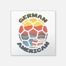 German American Football Soccer Square Sticker 3&q