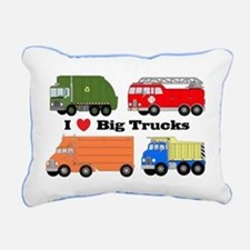 I Heart Big Trucks Rectangular Canvas Pillow