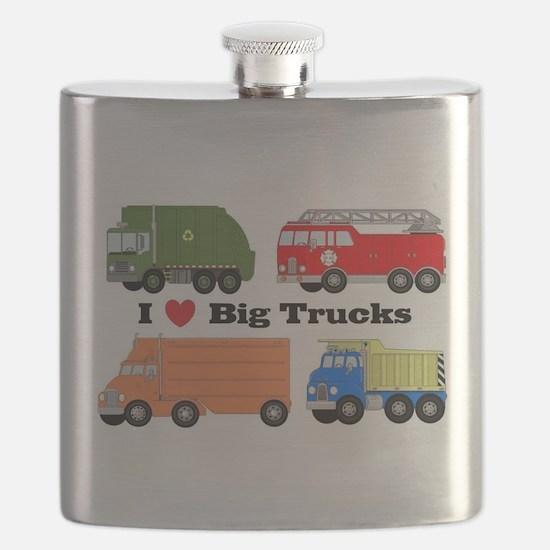 I Heart Big Trucks Flask