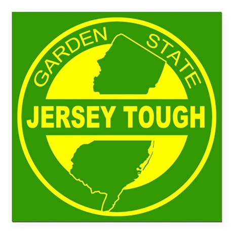 "New jersey Strong Square Car Magnet 3"" x 3"""