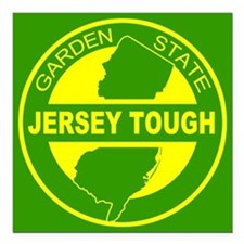 """New jersey Strong Square Car Magnet 3"""" x 3"""""""