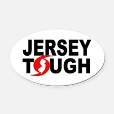 Jersey Strong Oval Car Magnet