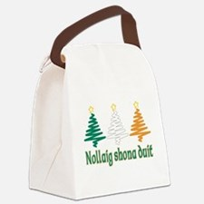Merry Christmas.png Canvas Lunch Bag