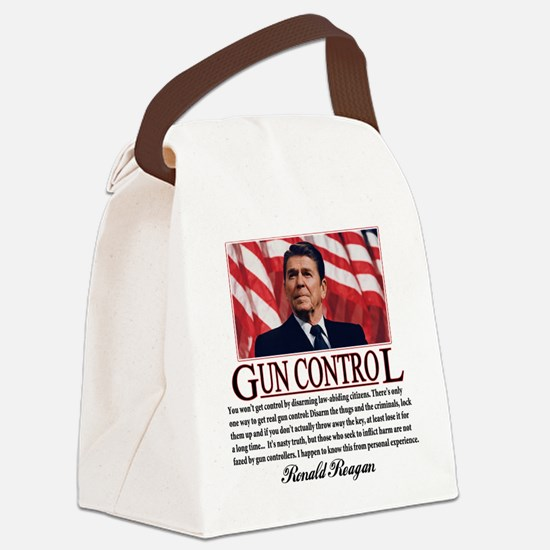 ronald reagan guncontrol.png Canvas Lunch Bag