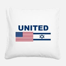 Support Isreal Square Canvas Pillow