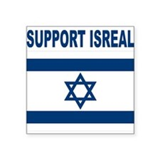 """Support Isreal Square Sticker 3"""" x 3"""""""