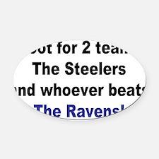 Ravens football Oval Car Magnet