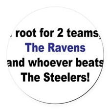 Ravens football Round Car Magnet