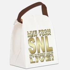 snl d.png Canvas Lunch Bag