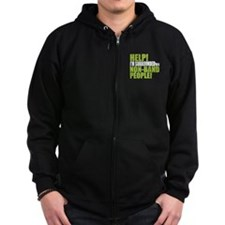 Non Band People Zip Hoodie