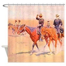 Old West Cavalry Shower Curtain