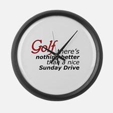Golf Sunday Drive Large Wall Clock