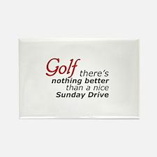 Golf Sunday Drive Rectangle Magnet
