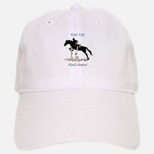 Eyes Up! Heels Down! Horse Baseball Baseball Cap